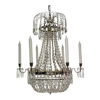 Empire Style Polished Chrome Chandelier