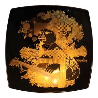 Mid Century Bjorn Wiinblad Rosenthal Studios Porcelain Plate