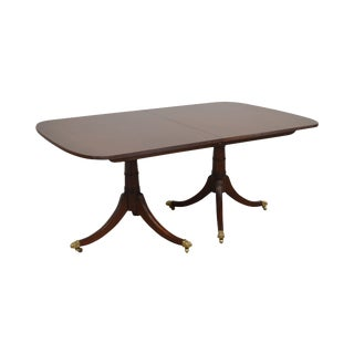 Stickley Solid Mahogany Duncan Phyfe Style Dining Table With 2 Leaves For Sale