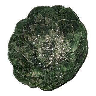 Vintage Italian Leaf Design Dish For Sale