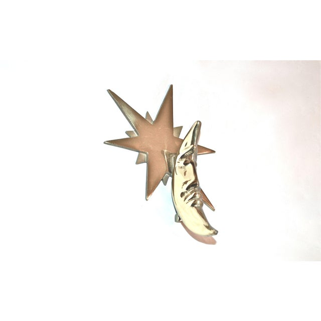 Moon and Star Healy Brass Door Knocker For Sale - Image 10 of 10