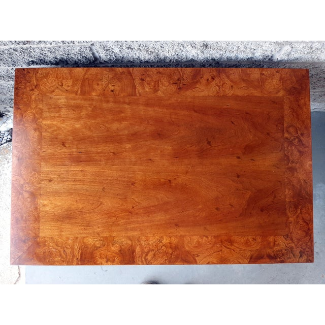 Vintage Heritage Furniture Cherry Nesting Tables With Curly Burl Wood Banding, 2 Pieces For Sale - Image 6 of 13