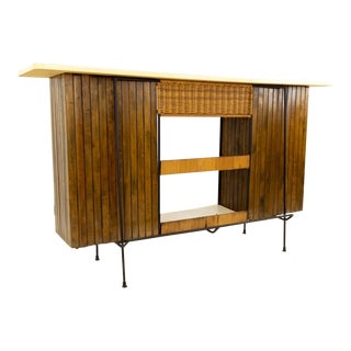 Mid-Century Modern Arthur Umanoff for Shaver Howard Tiki Bar For Sale