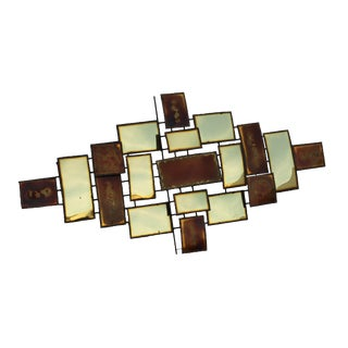 Brutalist Wall Sculpture in the Style of C. Jere For Sale