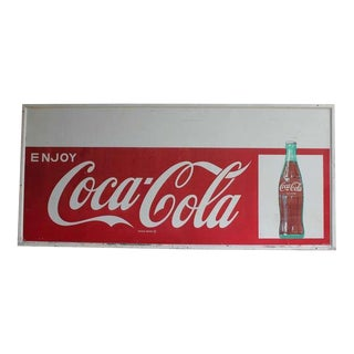 1960's Vintage Original Coca Cola Sign For Sale