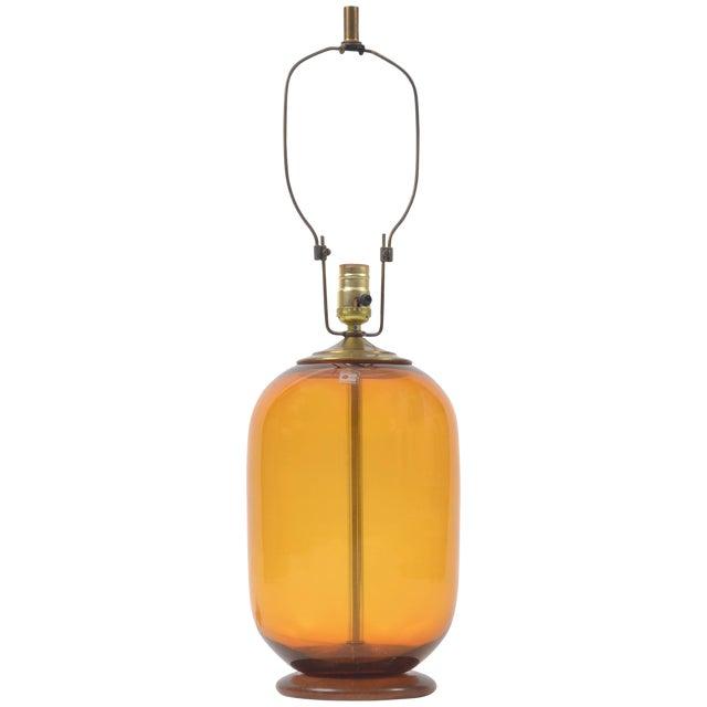 Blenko Blown Glass Lamp Designed by Don Shepherd For Sale