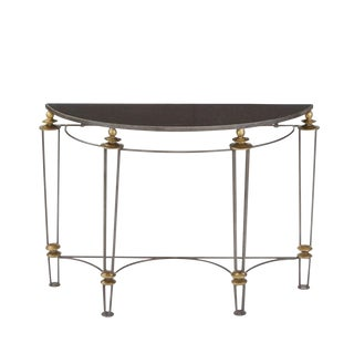 Go Home Canton Black Stone Top Console Table