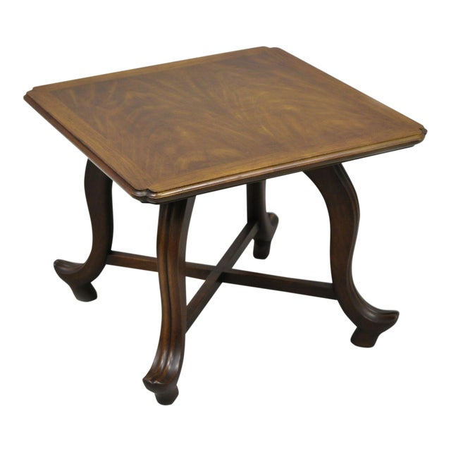 20th Century Hollywood Regency John Widdicomb Walnut Low Side Table For Sale