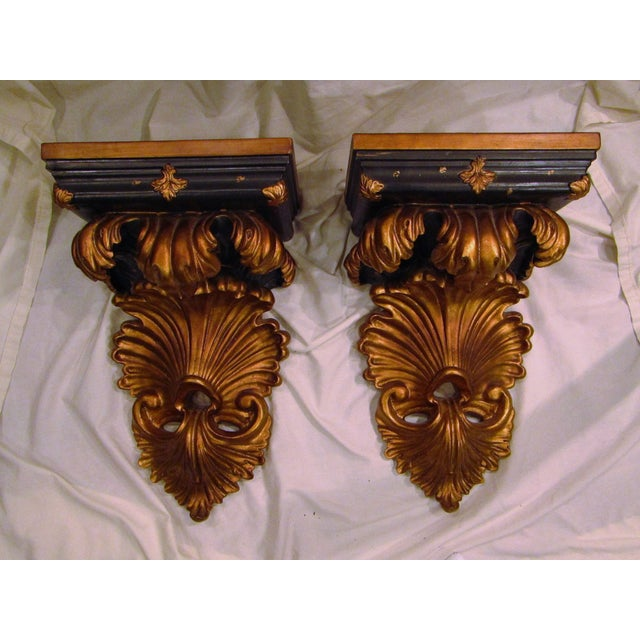 Baroque Style Wall Shelves Brackets - A Pair - Image 2 of 4