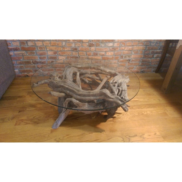 Driftwood Glass Top Coffee Table - Image 2 of 7