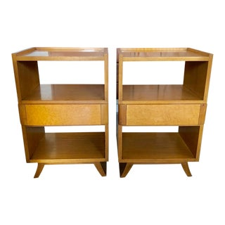 Eliel Saarinen for Rway Art Deco Walnut Night Stands - a Pair For Sale