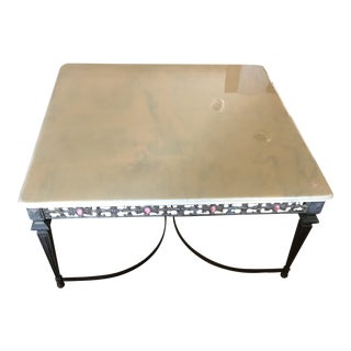 Bronze and Marble Moroccan Coffee Table