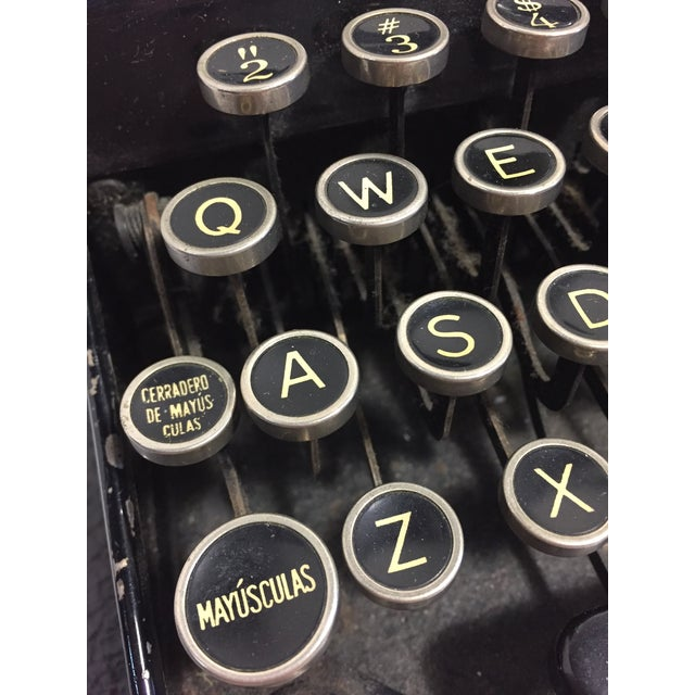 Silver Antique Remington Spanish Typewriter For Sale - Image 8 of 10