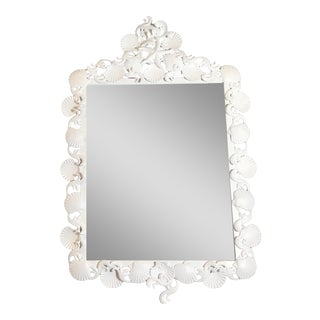 Organic Modern Iron Sea Shell Mirror For Sale