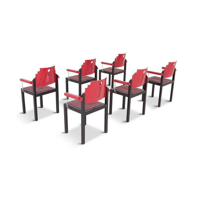 Memphis Dining Chairs by Gebrüder Thonet Vienna For Sale - Image 9 of 12