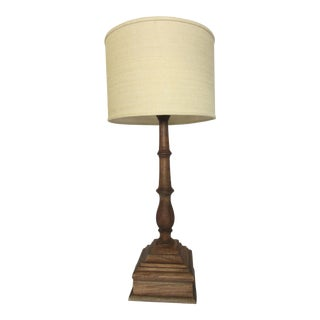 Restoration Hardware Natural Carved Wood Table Lamp