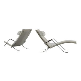 Pair of 1968 Danish Preben Fabricius and Jorgen Kastholm Grasshopper Lounge Chairs For Sale