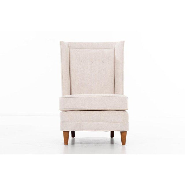 Cotton Paul Laszlo High-Back Lounge Chairs For Sale - Image 7 of 12