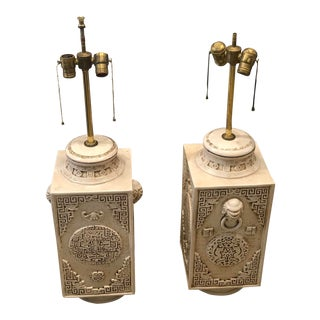 1960s Signed Ceramic Italian Lamps - a Pair For Sale