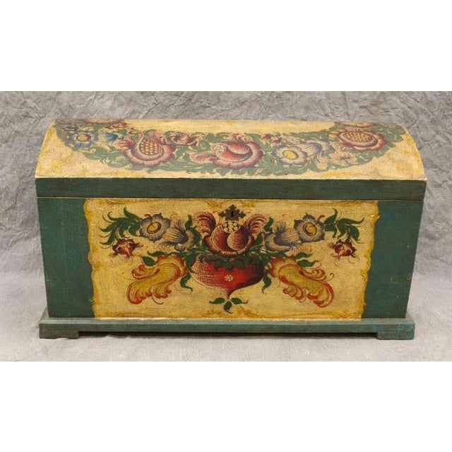 Dome-Top Hand-Painted Blanket Chest - Image 2 of 9
