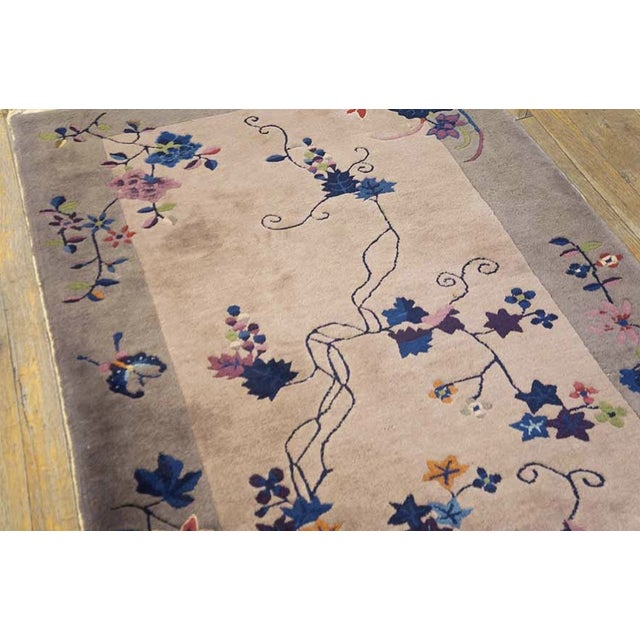1920s Antique Art Deco Chinese Rug For Sale - Image 5 of 6