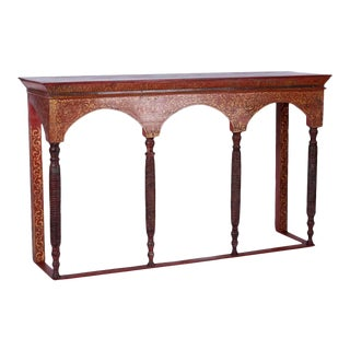 Thai Painted Altar Table or Console For Sale