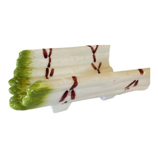 French Majolica Asparagus Server For Sale