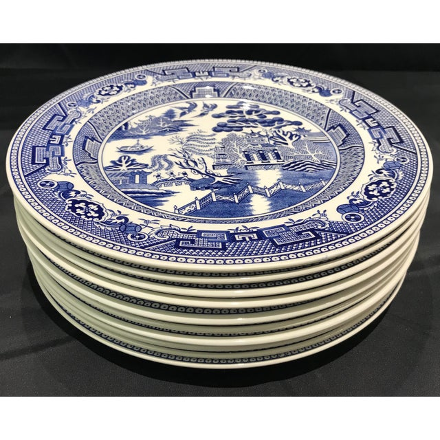 "1980s 1980s John Tams ""Blue Willow"" England Dinner Plates - Set of 10 For Sale - Image 5 of 7"