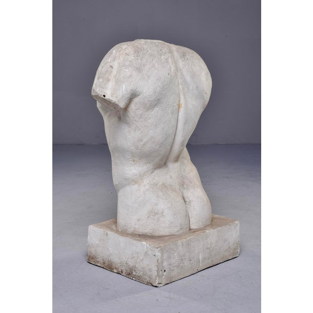 French Plaster Sculpture of Nude Male Torso For Sale - Image 4 of 7