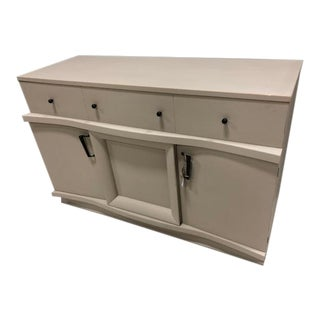 Painted Vintage Modern Long Low Chest Buffet