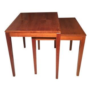 Bent Silberg Danish Nesting Tables - A Pair