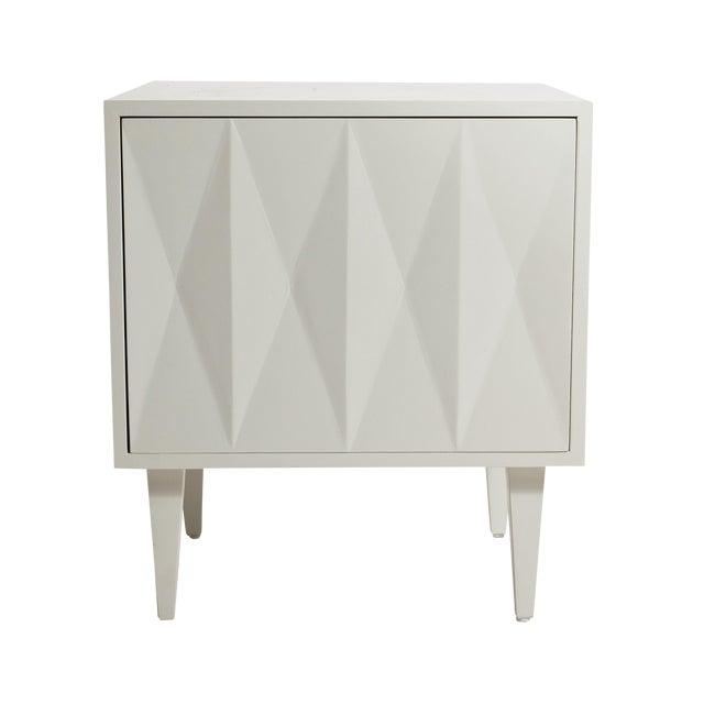 Erinn V. White Diamond Door Side Table - Image 1 of 5