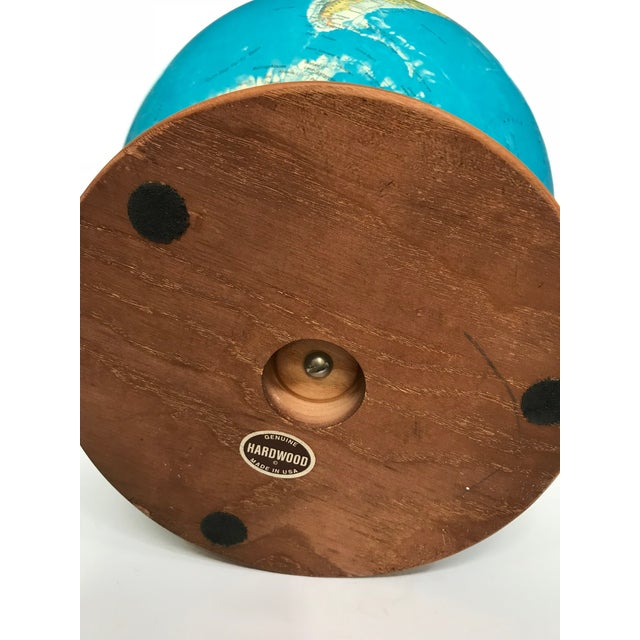 Blue Vintage Late 20th Century Globe Light For Sale - Image 8 of 10