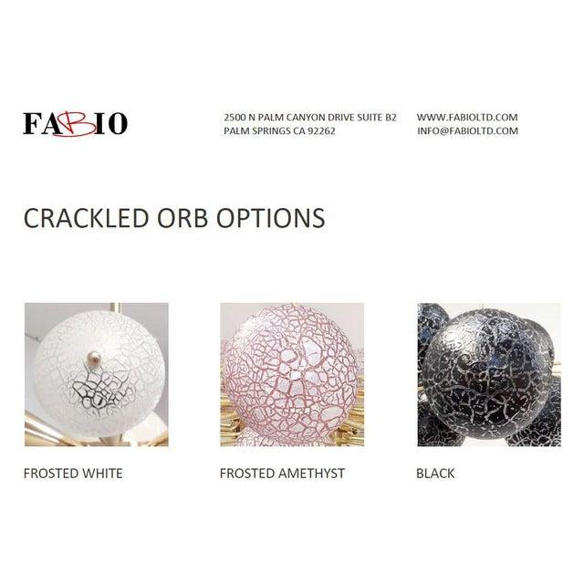 Crackled Globes Chandelier by Fabio Ltd For Sale - Image 11 of 12