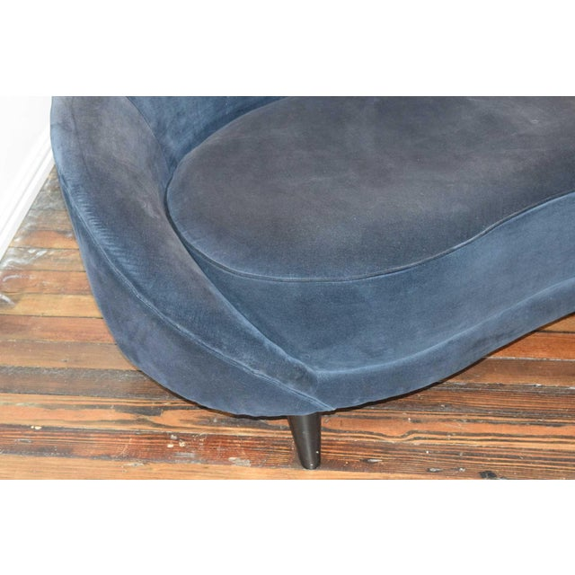 Federico Munari 1950s Vintage Federico Munari Italian Curved Sofa For Sale - Image 4 of 12