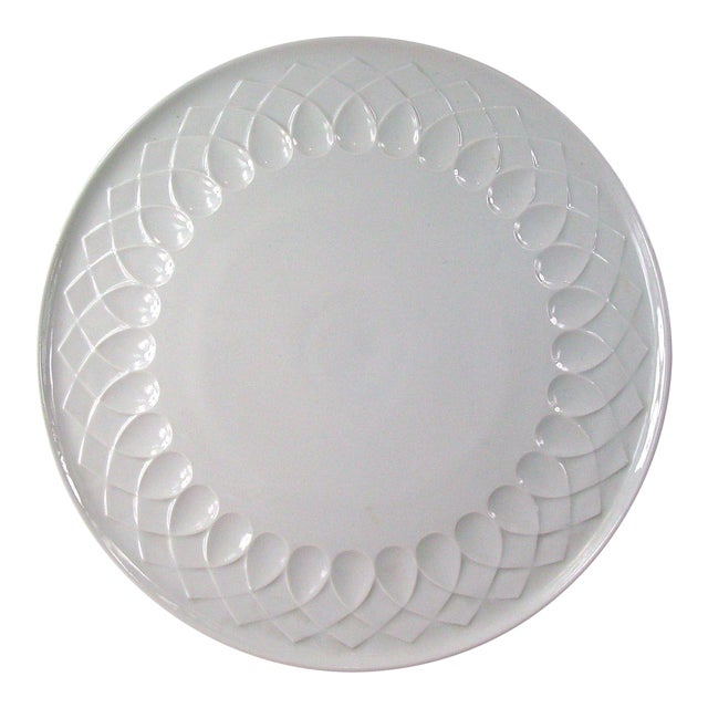 White Porcelain Serving Plate For Sale