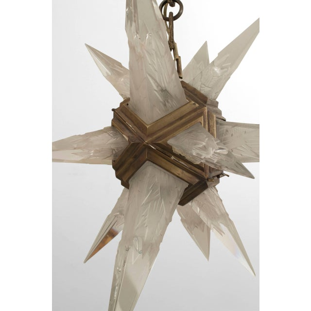1930s American Art Deco Star Form Chandelier For Sale - Image 4 of 7