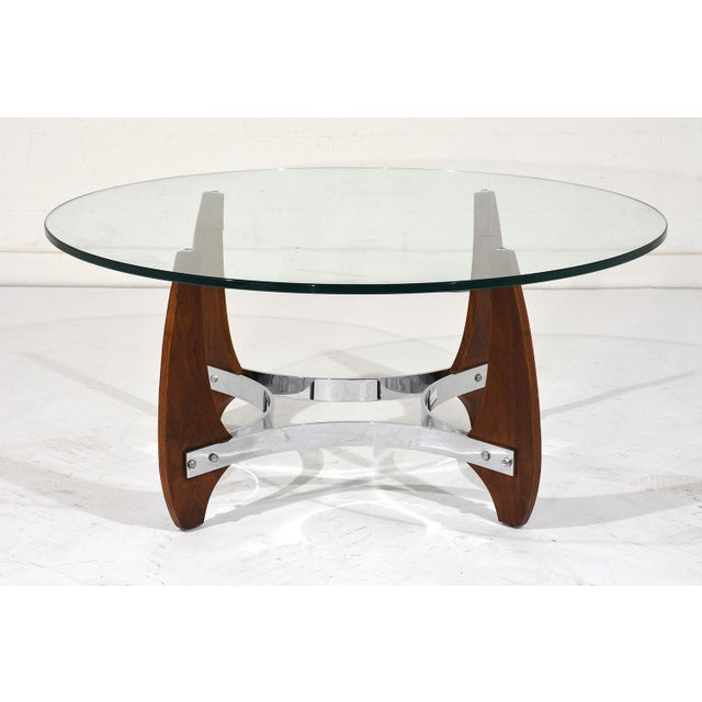 Chrome Coffee Table With Wood Top: Modern Wood And Chrome Coffee Table
