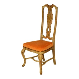 Six Queen Anne Style Chinoiserie Dining Chairs For Sale
