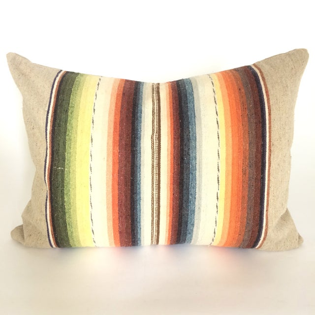 Sun Washed Sand Colored Vintage Pillow - Image 2 of 6
