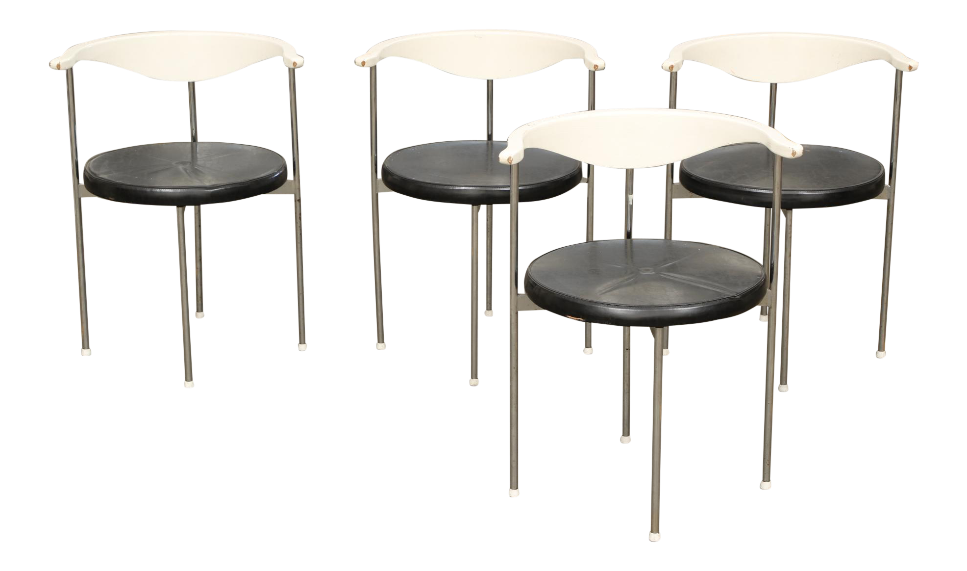 Frederik Sieck For Fritz Hansen Chairs   Set Of 4   Image 1 Of 11
