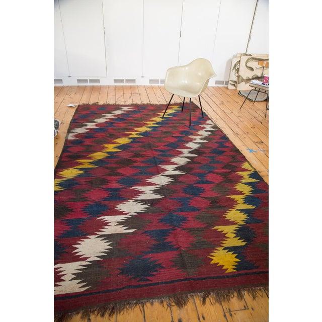 "Vintage Kilim Carpet - 6'4"" X 9'10"" - Image 4 of 6"