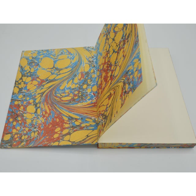 2020s Yellow & Blue Coptic Notebooks- a Pair For Sale - Image 5 of 12