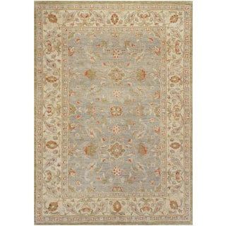 Mansour Fine Handmade Agra Rug - 4′7″ × 6′1″ For Sale