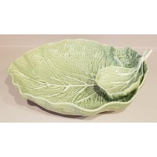 Bordallo Pinhiero Majolica Green Cabbage Leaf Serving Dish Preview