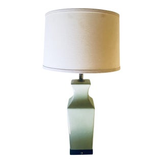 1970s Vintage Pale Celadon Asian Flare Lamp For Sale