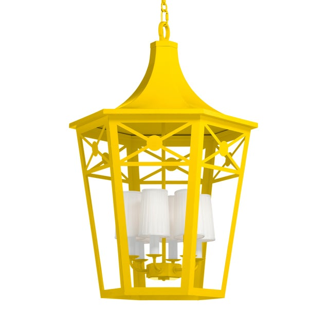 Casa Cosima Designers' Palette Bennington Lantern, Yoke For Sale - Image 4 of 4
