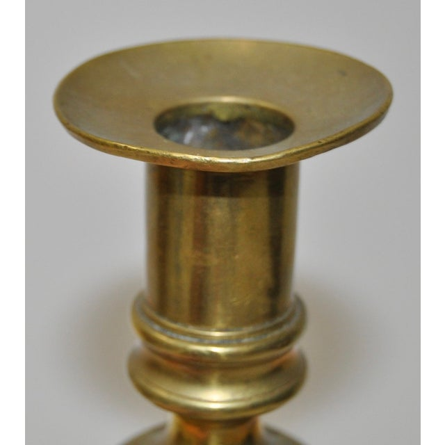 19th Century Brass & Marble Candlestick For Sale - Image 4 of 4