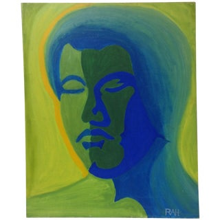 Abstract Psychedelic Bruce Lee Portrait on Canvas For Sale