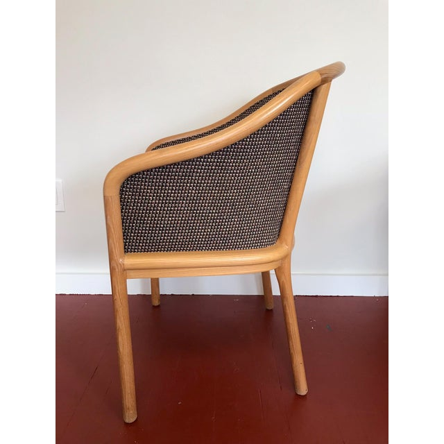 "Ward Bennett for Brickel Associates (Now Geiger) ""Landmark Chair"" From Herman Miller - Set of 6 For Sale - Image 11 of 11"